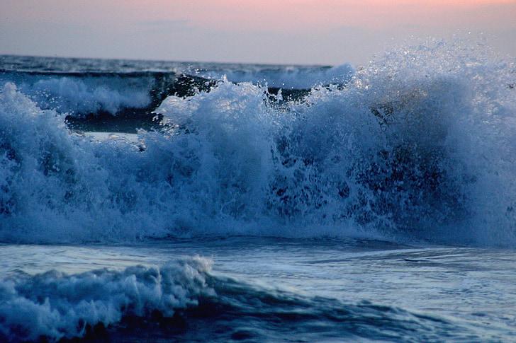 hullám, törés, óceán, tenger, Beach, hab, Mexikó
