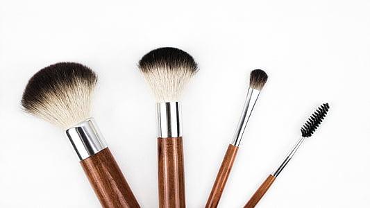 brotxa de maquillatge, raspall, cosmètica, maquillatge, conformen, l'aplicació, Rouge