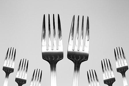 포크, 용품, 주방, 음식, 레스토랑, 나이프, 저녁 식사