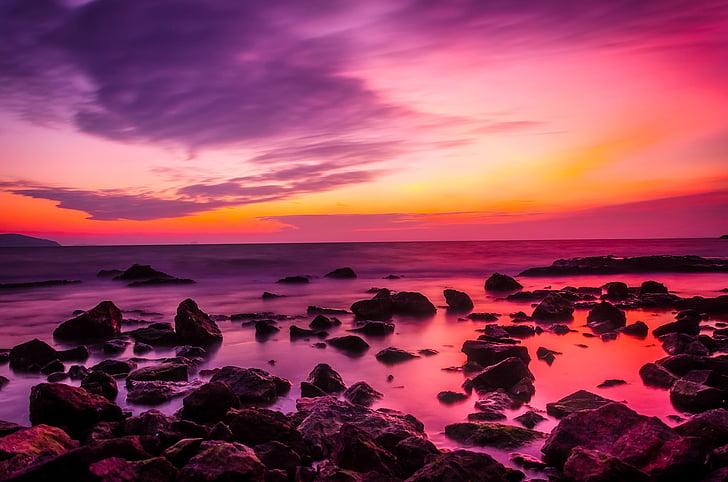 Turčija, sončni zahod, Mrak, nebo, oblaki, čudovito, barve
