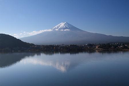 reflexió, Fuji, Japó, muntanya, Llac, viatges, punt de referència