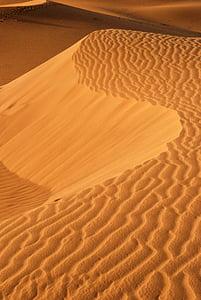 Zlatý písek, písečné duny, poušť