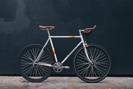 bijeli, ceste, bicikl, prijevoz, kolo, Nema ljudi, guma