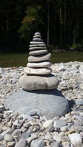 equilibri, Isar, pedres, pila, pedra - objecte, còdols, Roca - objecte