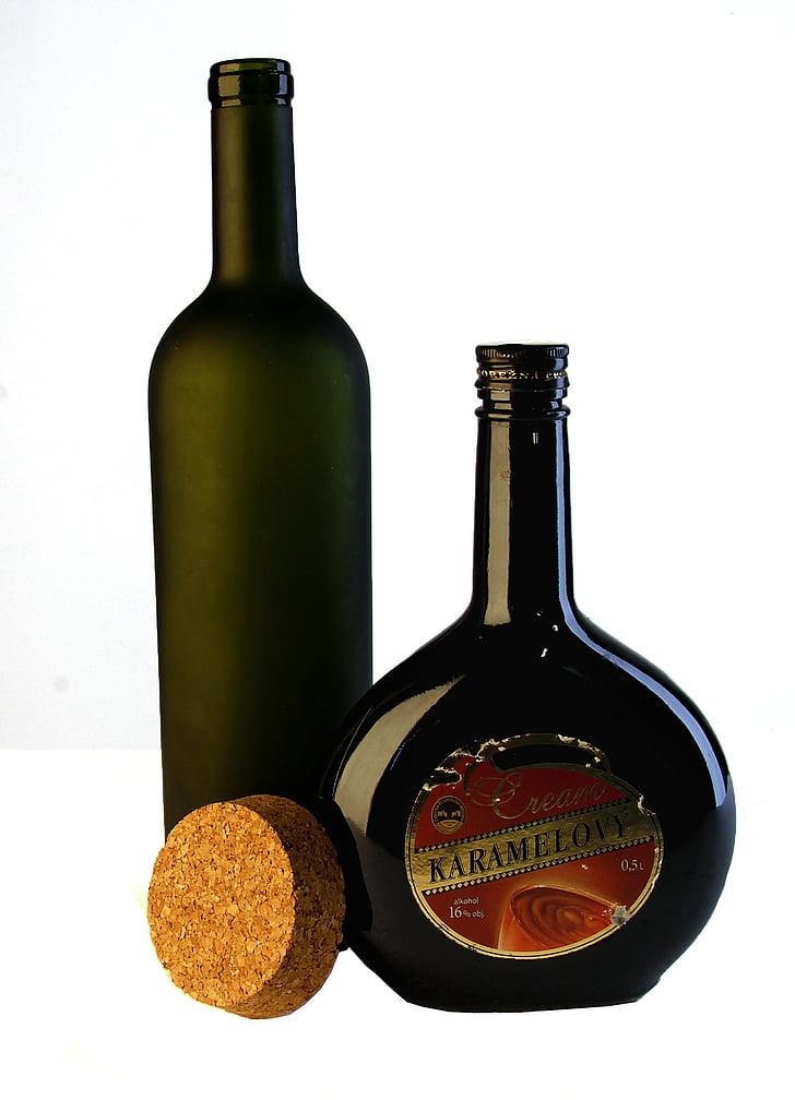 the bottle, glass, bottle, photo, glass bottle, still life, green