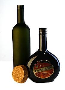 de fles, glas, fles, foto, glazen fles, Stilleven, groen