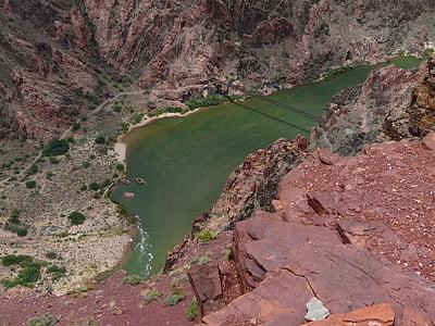 Гранд каньон, Колорадо, река Колорадо, вода, бяла вода, река, пътека