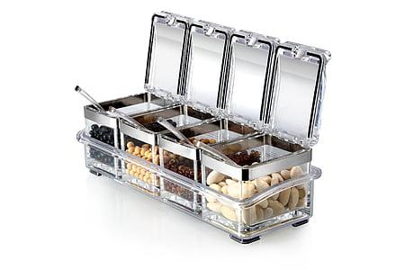 框, 调味, 豆子, 塑料盒, 透明框, 产品, 塑料