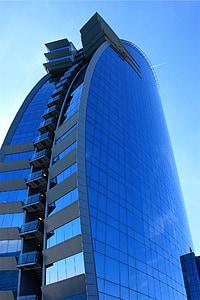Architektura, budova, fasáda, sklo, moderní