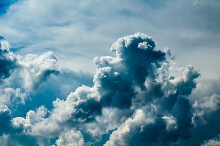 Sky, felhő, kék, természet, Időjárás, felhő - ég, levegő