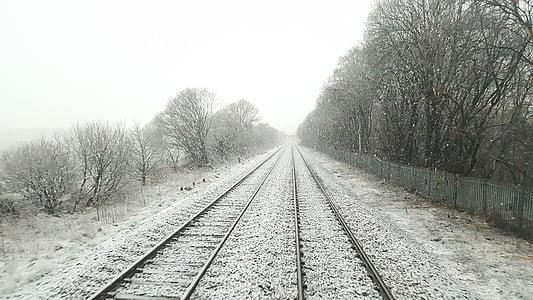 railway, train tracks, transportation, train, track, railroad, transport