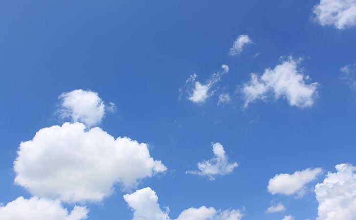 облака, небо, Голубой, Голубое небо облака, небо облака, Погода, Природа