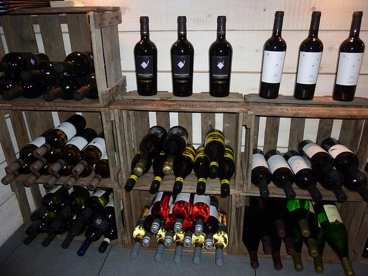 veini pudelid, Deco, teenetemärgi, pudelid, alkoholi, Gastronoomia, Restoran