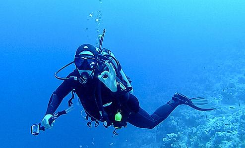 ronjenje, pod vodom, ronioci, vode, podvodni svijet, škola ronjenja, Egipat