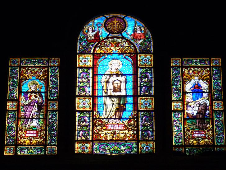 vidrieres, l'església, finestra, finestra de l'església, finestra de vidre, arquitectura