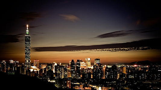 paisatge urbà, posta de sol, urbà, horitzó, capvespre, cel, veure