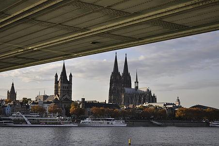 Nhà thờ Cologne cathedral, Dom, Landmark, Cologne, Nhà thờ, kiến trúc, cảnh quan thành phố