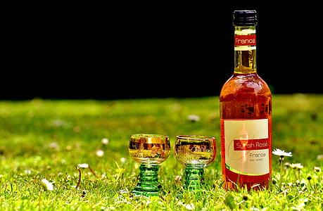 vin, dryck, vinglas, restaurang, Weinstube, alkohol, flaskor