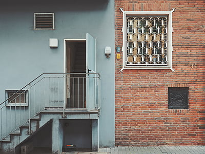 architecture, building, house, stairs, outside, wall, wall - Building Feature