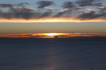sun, water, sky, breaking dawn