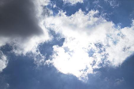 Sun, kesällä, taivaan, Tiivistelmä, väri, valkoinen, taivas