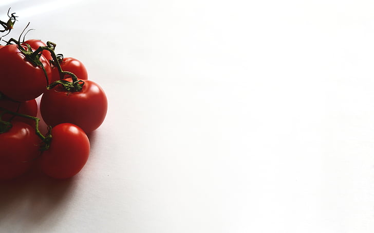 högen, röd, tomater, vit, yta, grönsaker, mat