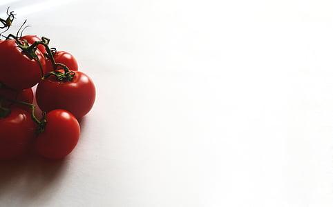 더미, 레드, 토마토, 하얀, 표면, 야채, 음식