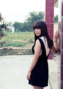 sister vietnam, pretty picture, nice picture, graceful, peaceful, dress, sunny day