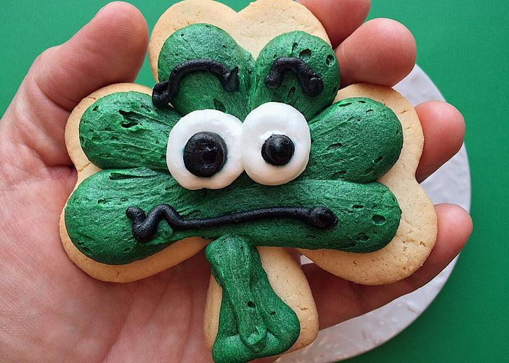 St. Patricks day, Urlaub, Klee, Cookie, St. Patricks day, grüne Farbe, menschlichen Körperteil