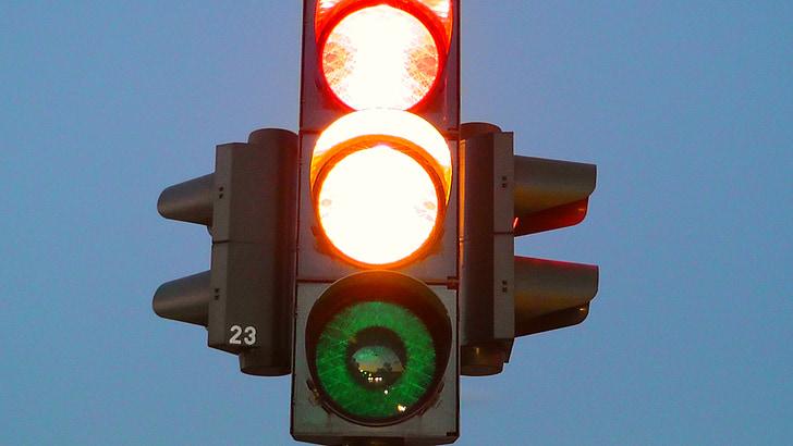 semàfors, carretera semàfor, Làmpada de senyal, senyal de trànsit, senyal de llum, carretera, trànsit
