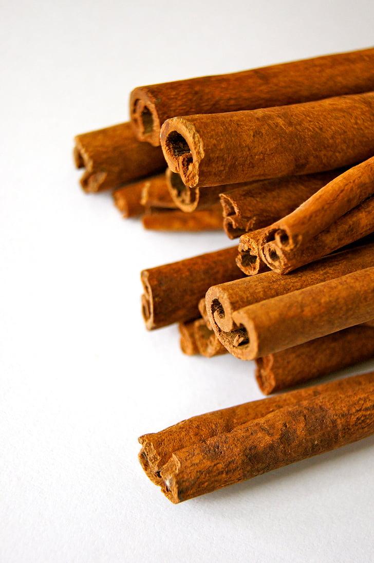 香り, 茶色, シナモン, シナモンの棒, クローズ アップ, 味, 食品