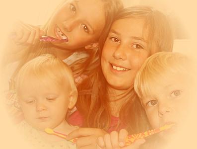 Laste, hamba, Puhastage, hammaste tervis, hambaravi, atraktiivne, esimese hamba