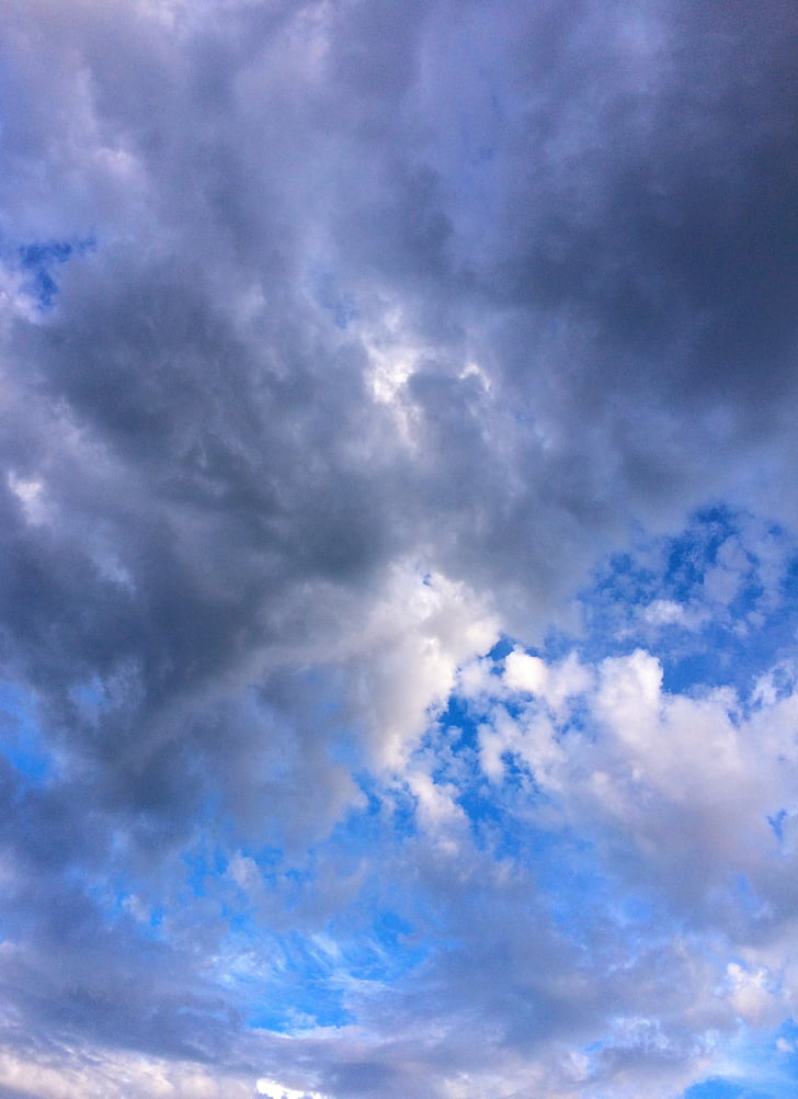 cloud, sky, flowing, typhoon, dramatic, blue sky, in motion