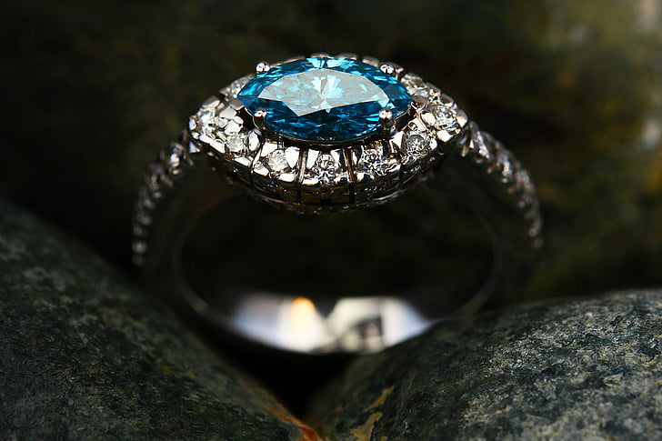 пръстен, бижута, лукс, богат, диамант, на жените, скъпоценни