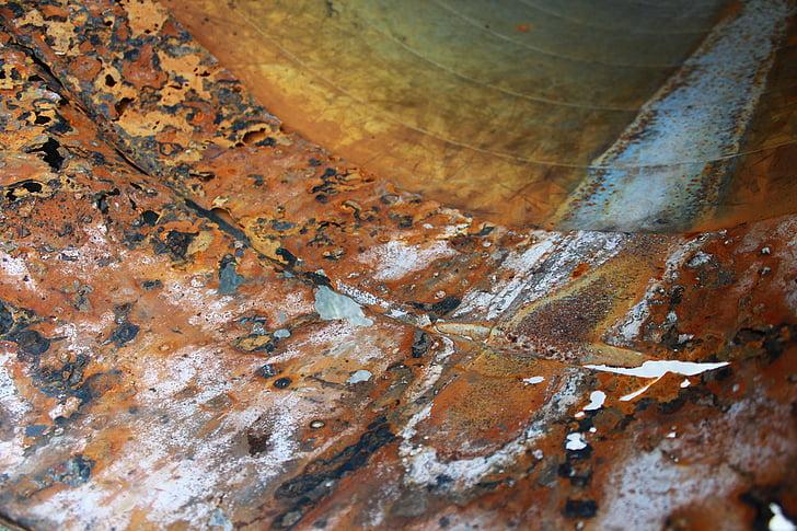 òxid, canonada, vell, indústria, metall, corrosió, Rusted
