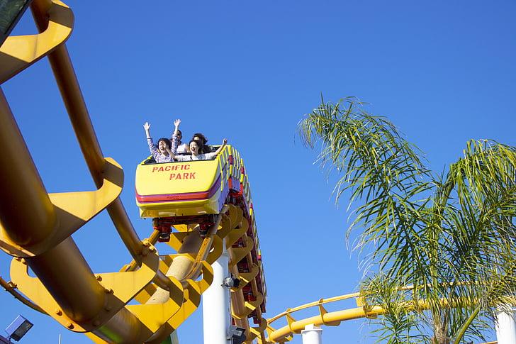 achtbaan, rit, leuk, Entertainment, RollerCoaster, bijhouden, attractie