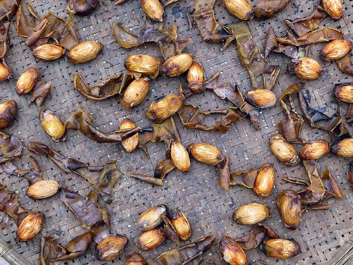 Laos, cacahuetes, asar a la parrilla, alimentos, energía