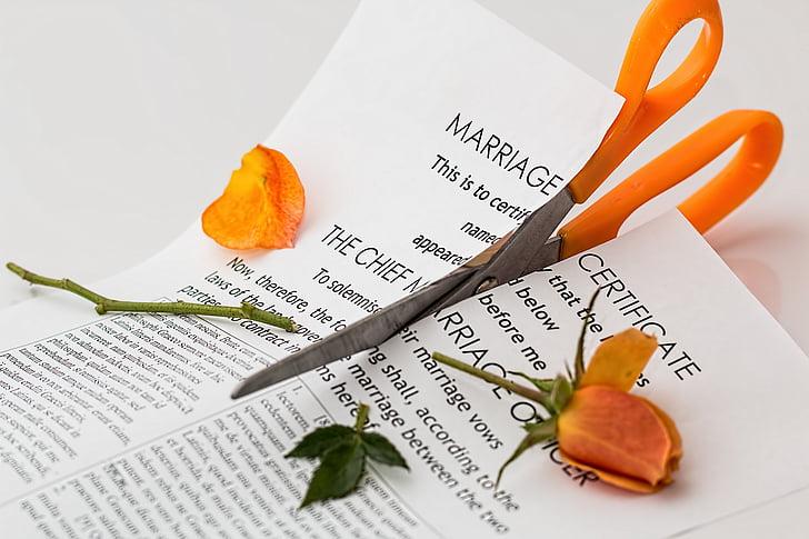 Avioero, erottaminen, avioliitto hajonnut, Split, argumentti, suhde, konfliktin