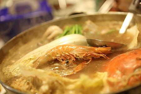 haemultang, pārtika, garneles, jūras veltes, ēst, Ēdināšana