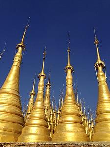 Pagoda, spiror, templet, religion, buddhismen, buddhistiska, berömda