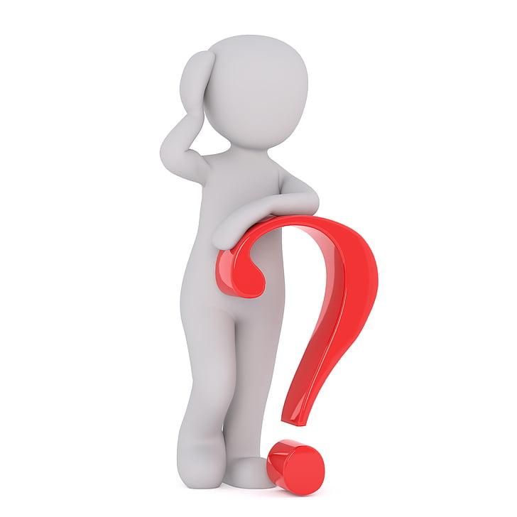 pregunta, signe d'interrogació, ajuda, Resposta, símbol, icona, personatges