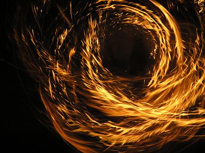 foc, focs artificials, Ball de foc, resum, fons, futurista, fractal