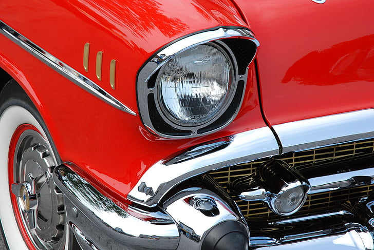 classic car, red, automobiles, chevrolet, vintage, vintage automobiles, car