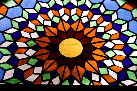 l'església, Monestir, Catedral, sol, mosaic, vidrieres, color