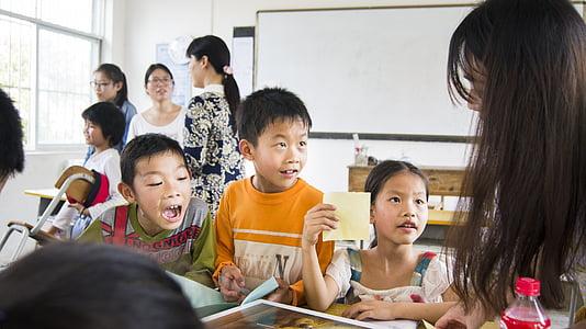 kids, school, class