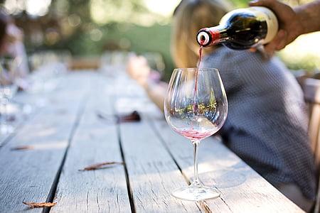 hälla vin, Vinland, Napa, vinresa, vinprovning, hälla, glas