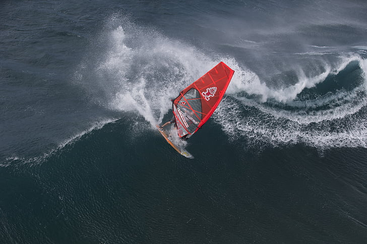 Hawaii, windsurfing, recreere, sport, val, valuri, distractiv