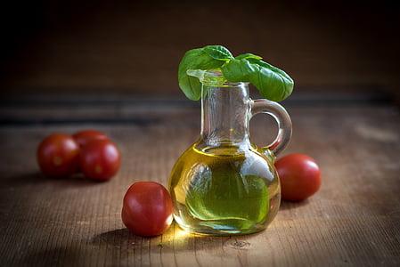 olej, olivový olej, fľaše, jedlo, jesť, sklenené fľaše, zátišie