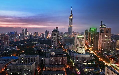 城市景观, 南京, 紫峰塔