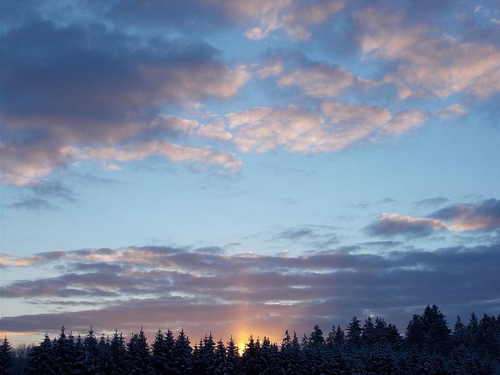 cielo, morgenrot, salida del sol, amanecer, cielos, naturaleza, atmosférica